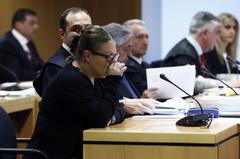 La auxiliar acusada de asesinar a dos ancianas, durante el juicio.