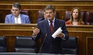 Rafael Catalá en el pleno del Congreso de los Diputados durante su etapa como ministro de Justicia