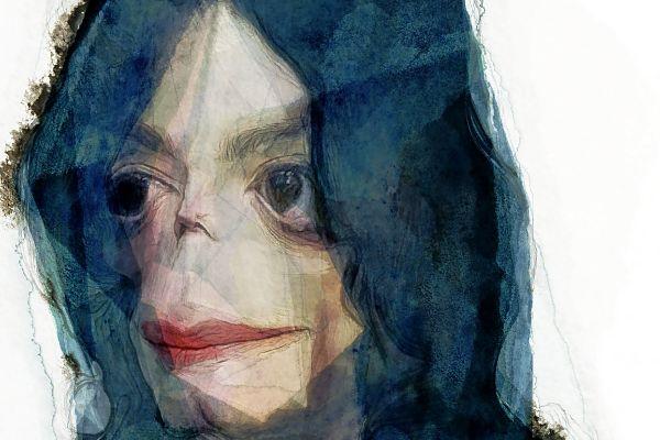 Ilustración del cantante Michael Jackson