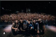 La fotografía que el cantante subió a su cuenta de Instagram