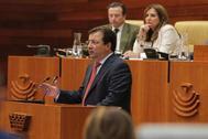 Guillermo Fernández Vara, durante su discurso de investidura