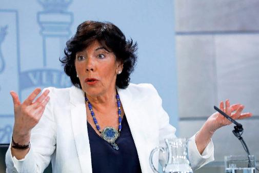Isabel Celaá, durante el Consejo de Ministros