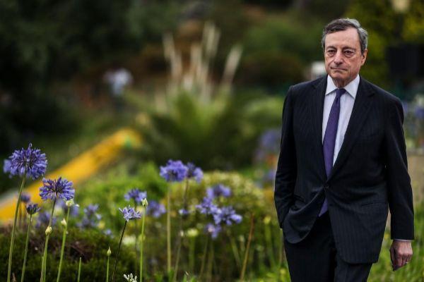El presidente del BCE, Mario Draghi, la pasada semana en Sintra (Portugal).