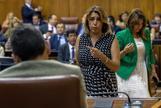 La líder del PSOE andaluz, Susana Díaz, en uno de los últimos plenos celebrados en el Parlamento.