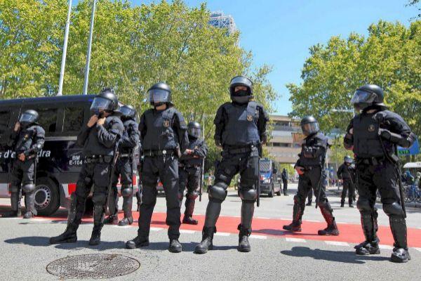 Imagen de archivo de una unidad de Antidisturbios de los Mossos