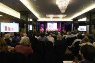 Asamblea General de Socios de SGAE, este lunes en el Hotel Intercontinental de Madrid.