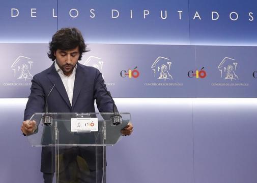 Toni Roldán anuncia su salida de Ciudadanos en el Congreso