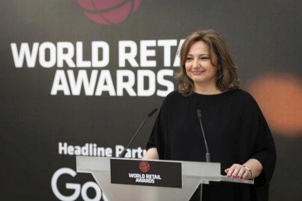 Marta Álvarez durante una entrega de premios en 2018.