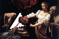 Montaje sobre el cuadro de Tiziano de la muerte de San Juan Bautista