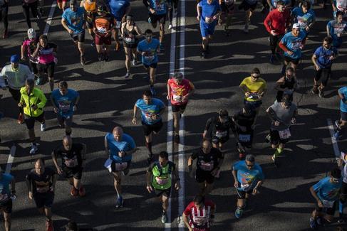 Participantes en la maratón de Madrid de 2019.