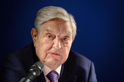 El inversor y filántropo de EEUU, George Soros, en el Foro Económico Mundial (FEM) en Davos, Suiza.