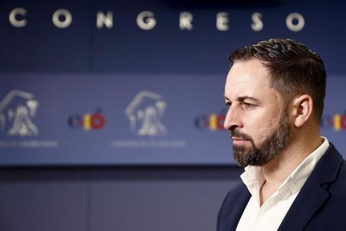 Santiago Abascal, el pasado jueves en el Congreso
