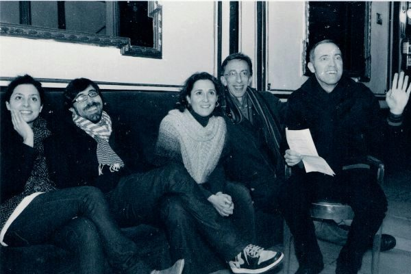 Del Arco con los actores de 'La función por hacer'