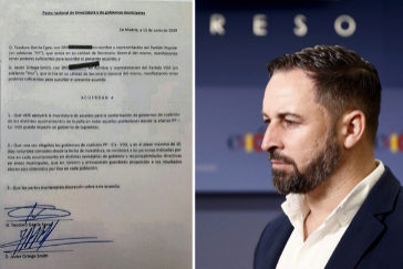 Vox da por roto el acuerdo con el PP y  desvela el documento secreto que les daba concejalías