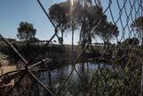Balsa de riego ilegal construida cerca de alguno de los pozos que la CHG pretende cerrar.