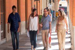 Iago Negueruela, Francina Armengol, Josep Castells y Pilar Costa, ayer, antes de la firma del acuerdo de investidura. ALBERTO VERA