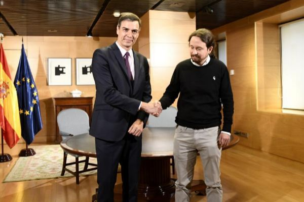 Pedro Sánchez y Pablo Iglesias en una reunión reciente.