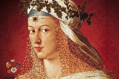 Posible retrato de Lucrecia Borgia, del pintor Bartolomeo Veneto.