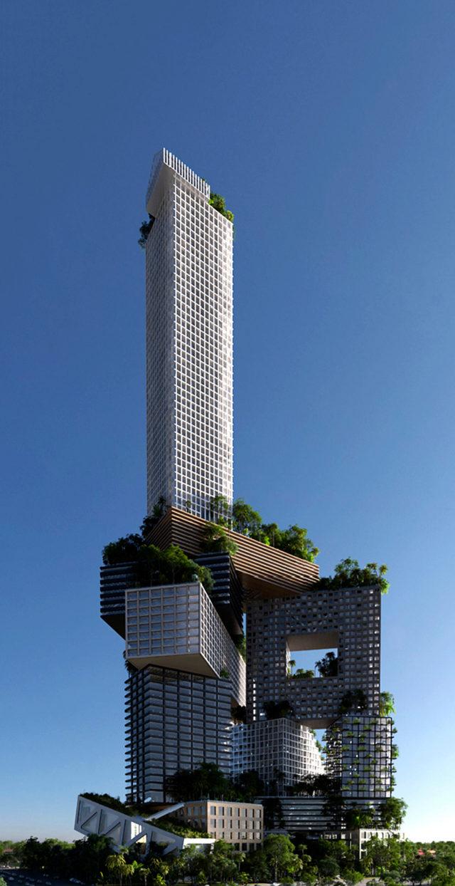 Peruri 88: verde y vertical. 360.000 m2 de oficinas, tiendas, viviendas y espacios públicos en Jakarta (Indonesia).