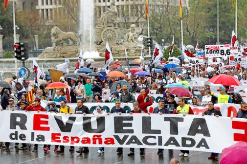 Manifestación por la España vaciada en Madrid, el pasado marzo