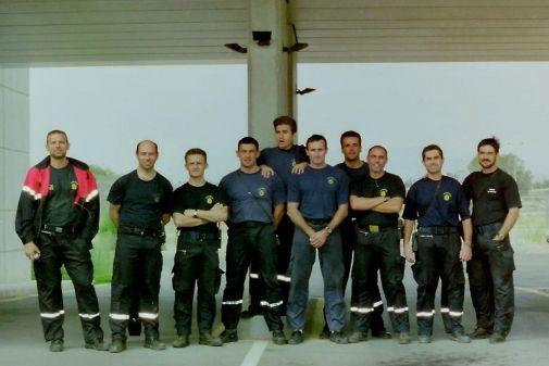 El equipo del parque del Consorcio, en los inicios de estas instalaciones, año 2000.