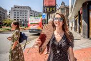 Un aimagen de Bilbao durante la ola de calor del año pasado, en agosto.
