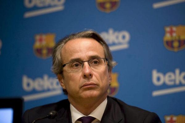 Javier Faus en su etapa de ex vicepresidente del Barcelona.