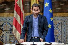 El conseller de Educación, Vicent Marzà, en su reciente toma de posesión.