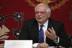 El ministro de Exteriores en funciones, Josep Borrell, durante la inauguración de un seminario sobre Liderazgo y Empoderamiento hoy.