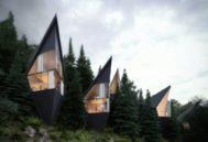 Estructuras turísticas que se mimetizan con el entorno utilizando los recursos naturales.