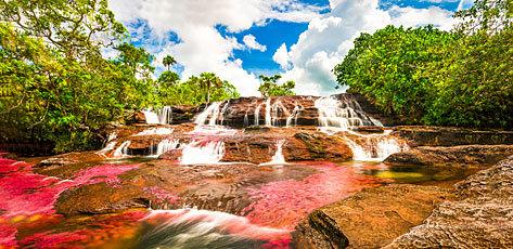 Caño Cristales se ubica en el departamento del Meta (Colombia).