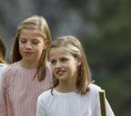 La Infanta Sofía (i) y la Princesa Leonor, en Covadonga, el pasado mes de agosto.