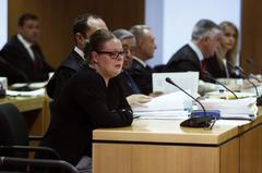 Beatriz L. D., durante el juicio celebrado en la Audiencia Provincial de Madrid.