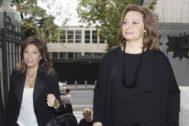 Las hijas de Isidro Álvarez, Presidente de El Corte Inglés, Cristina Álvarez y Marta Álvarez.