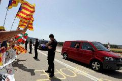 Los líderes soberanistas procesados por rebelión ingresan en cárceles catalanas