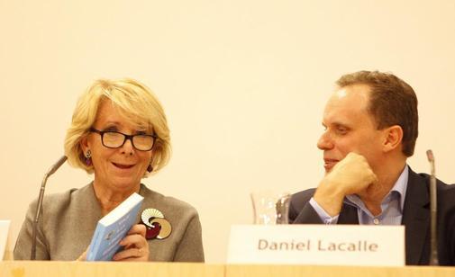 Esperanza Aguirre y Daniel Lacalle, en un acto en Madrid.