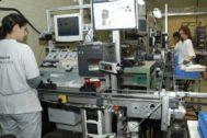 Interior de las instalaciones de Huf España en el polígono industrial de El Burgo de Osma.