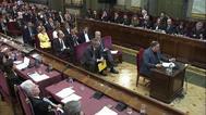 Los líderes del 'procés' durante el juicio del 1-O en el Tribunal Supremo.