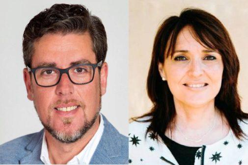 Javier Gutiérrez y Julia Parra, los futuros diputados provinciales.