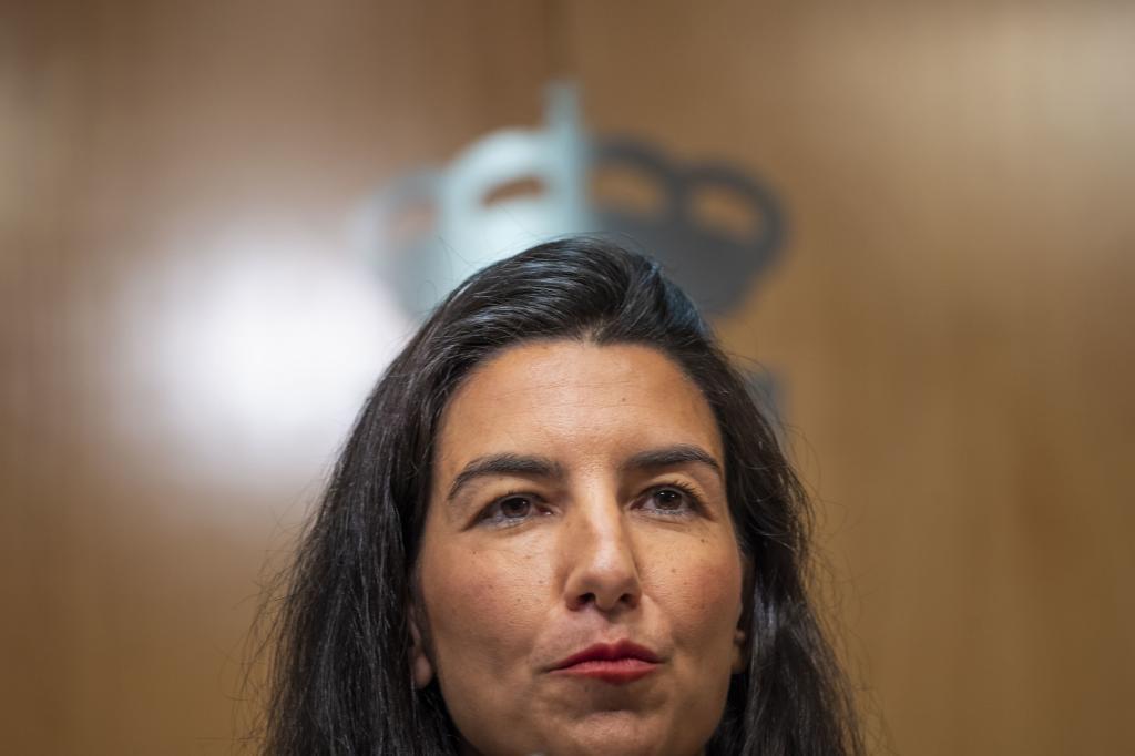 Rocío Monasterio, este miércoles en rueda de prensa.