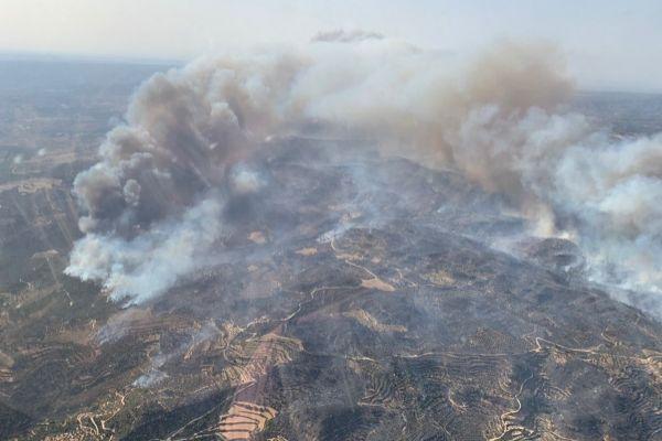 Imagen de la zona incendiada.