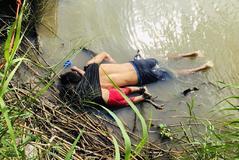 Los cuerpos de los dos migrantes salvadoreños que perecieron en Río Bravo