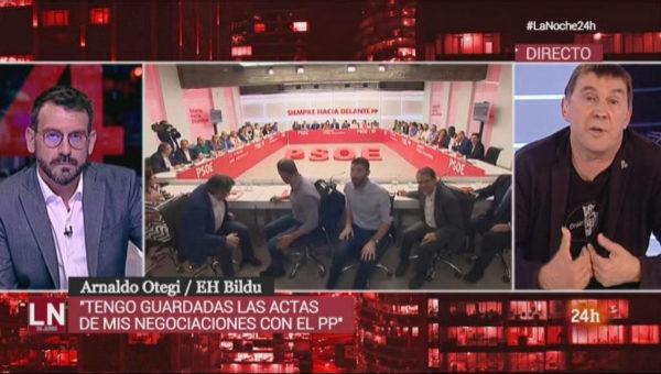 Madrid. 26.06.2019. RTVE entrevista a Arnaldo <HIT>Otegi</HIT>. La...