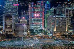 La masiva protesta del martes, en Hong Kong.
