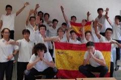 La polémica fotografía de alumnos haciendo el saludo nazi.