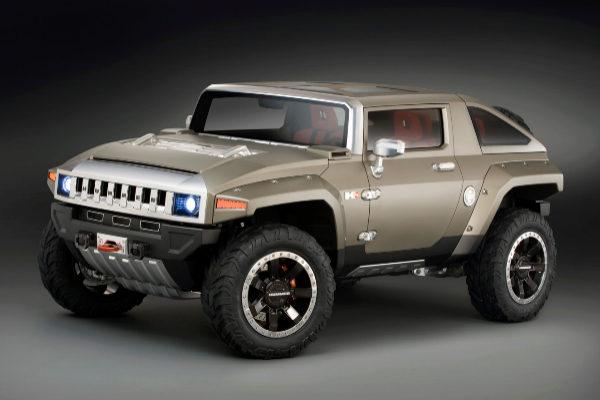 El Hummer HX Concept que fue tomado de base para algunos experimentos eléctricos