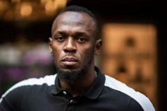 Usain Bolt, en mayo, al presentar su empresa de patinetes.