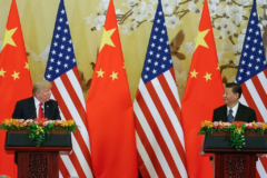 El presidente de EEUU, Donald Trump y su homólogo chino, Xi Jingping.