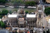 Aspecto de la catedral el día 12 de junio, en plena reparación.