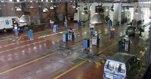 Vista general de una estación de Inspección Técnica de Vehículos.